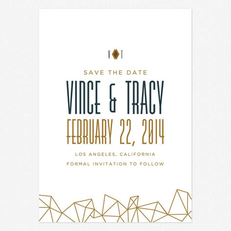 Modern Deco Save the Date Cards