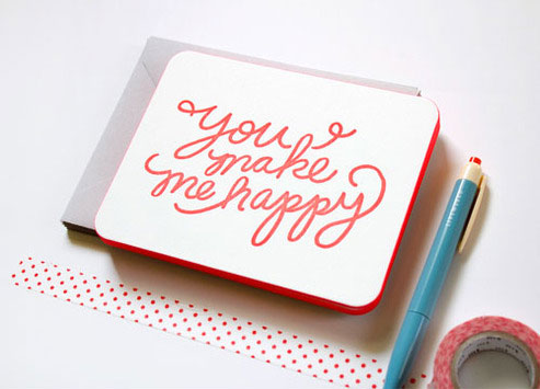 Hand Lettered Neon Notecards by Moglea