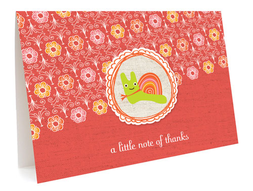 Snail Thank You Card by Night Owl Paper Goods