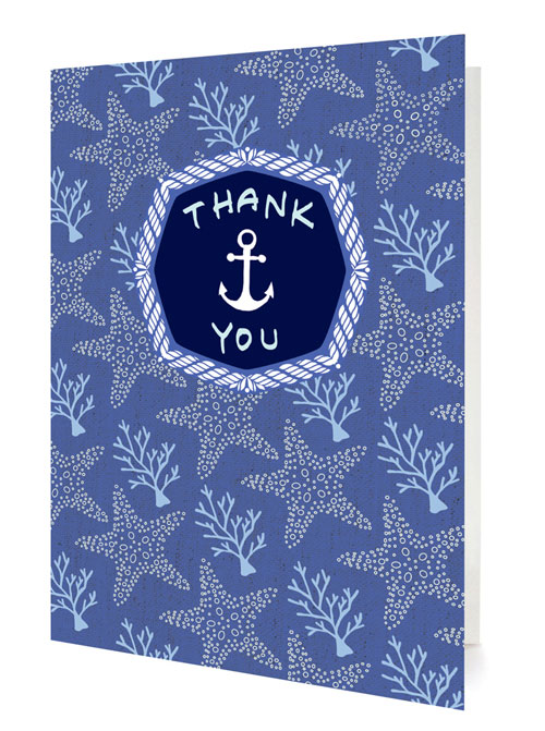 Anchor Thank You Card by Night Owl Paper Goods