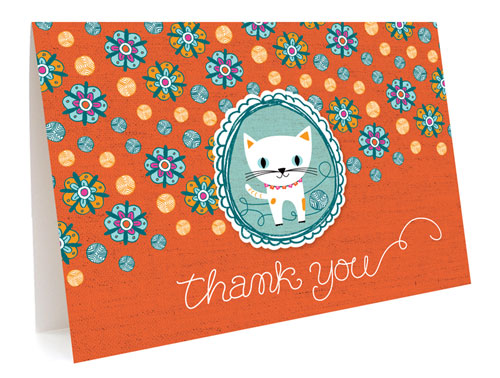 Kitty Thank You Card by Night Owl Paper Goods