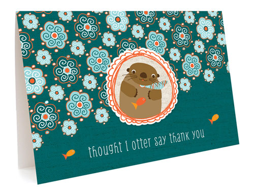 Otter Thank You Card by Night Owl Paper Goods