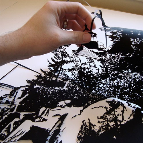 Hand Cut Papercut Art