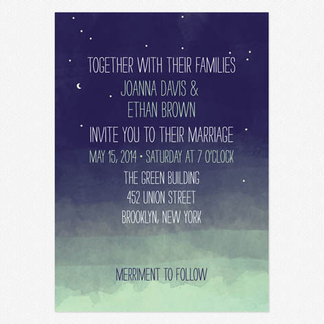 Pretty Lights Wedding Invitations