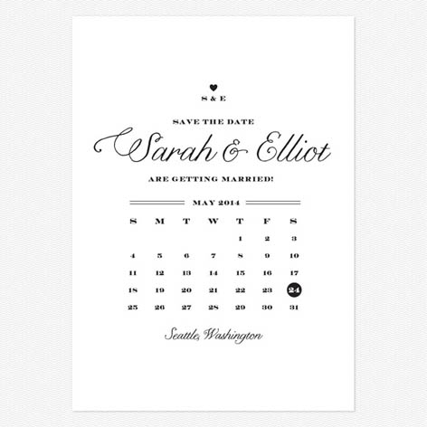 Rustic Chic Save the Date Cards