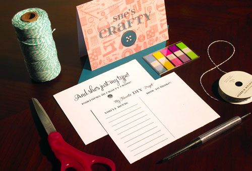 Craft Project Tear Off Card | Sent Well