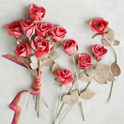 Paper Roses from West Elm