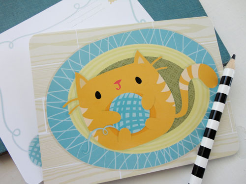 Cute Kitten Note Cards | Isabell's Umbrella