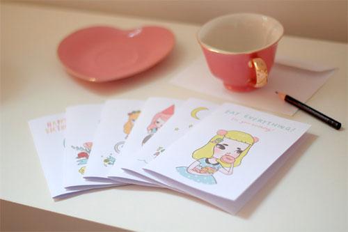 Sweet & Sassy Greeting Cards by Mel Stringer