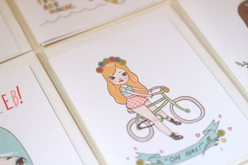 Illustrated Greeting Cards by Mel Stringer