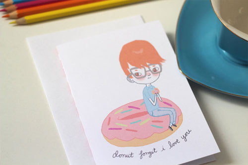 Nerdy Love Card by Mel Stringer