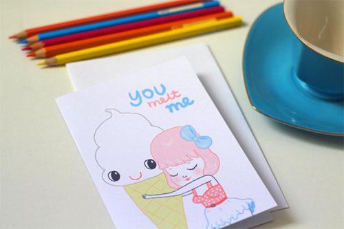 You Melt Me Card by Mel Stringer