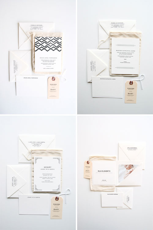 Papoose Letterpress Birth Announcements | In Haus Press