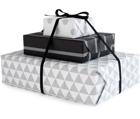 Black + White Graphic Gift Wrap | Pei Design