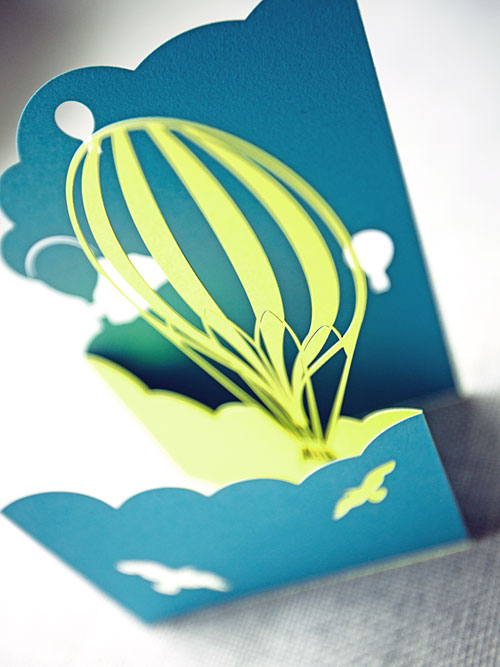 Laser Cut Card | Plane Paper