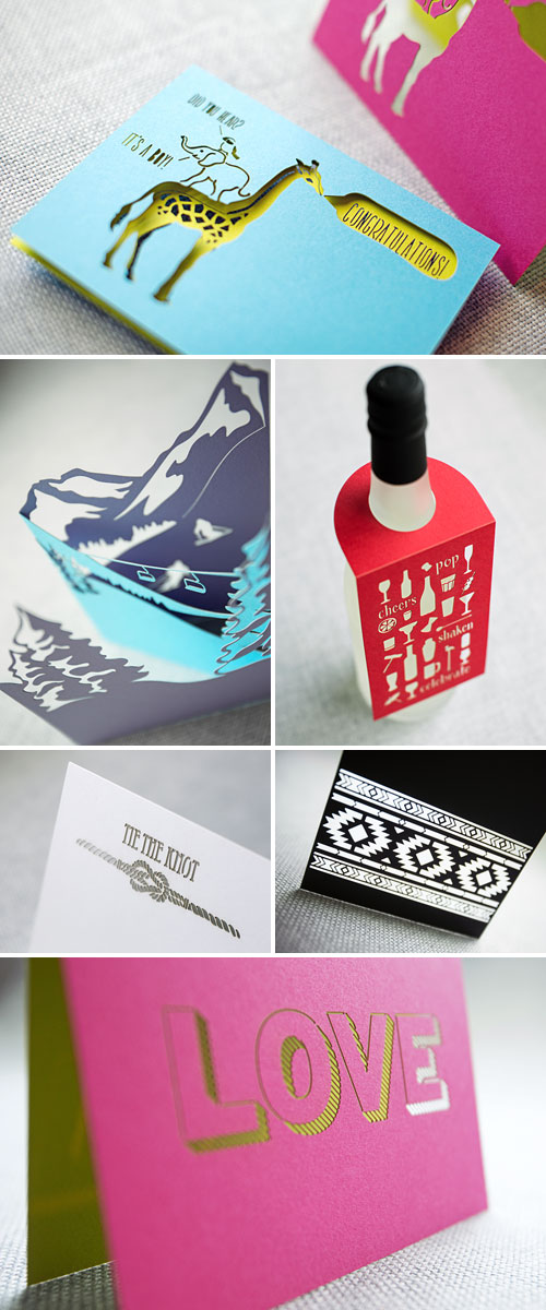 Laser Cut Tri Fold Cards, Bottle Tags, Stationery | Plane Paper
