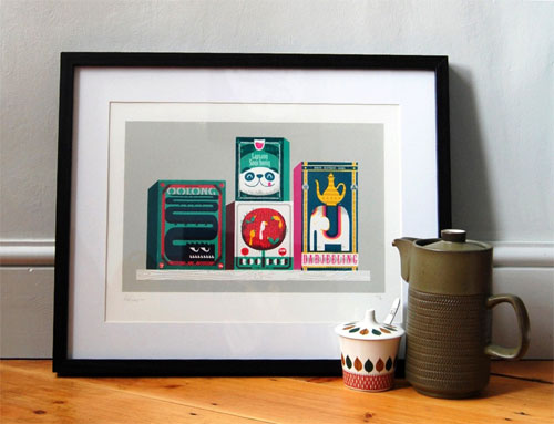 Tea Box Zoo Screenprint | Peskimo