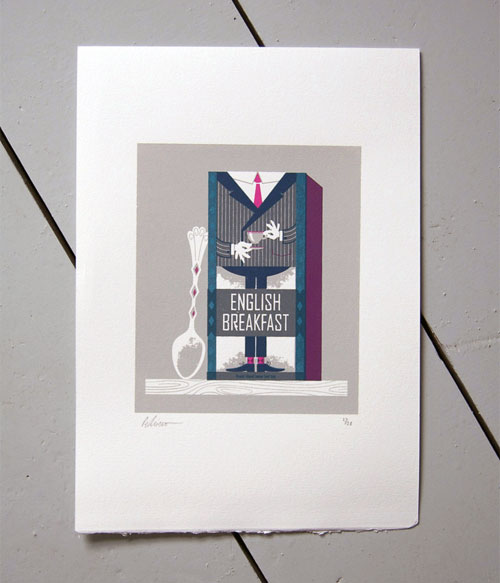 English Breakfast Tea Screenprint | Peskimo