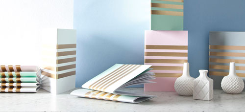 StudioSarah Gold Foil Stripe Notebooks