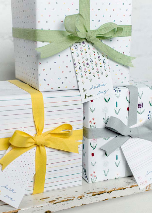 Hand Drawn Illustrated Gift Wrap + Tags | Sycamore Street Press