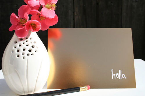Gold Foil Hello Card | Tallu-lah