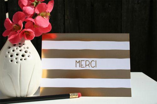 Gold Foil Merci Card | Tallu-lah