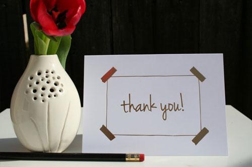 Gold Foil Thank You Card | Tallu-lah