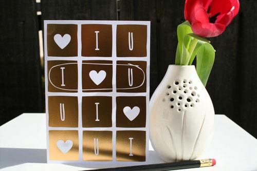 Gold Foil I Heart You Card | Tallu-lah