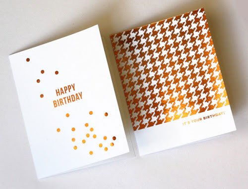 DIY Foil Cards | How About Orange