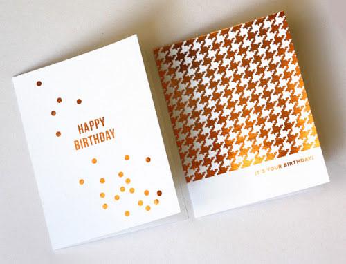 DIY Foil Cards | How About Orange