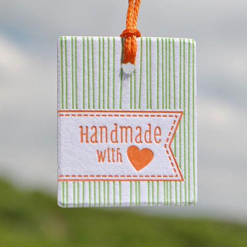 Handmade Letterpress Gift Tag | Word Letterpress