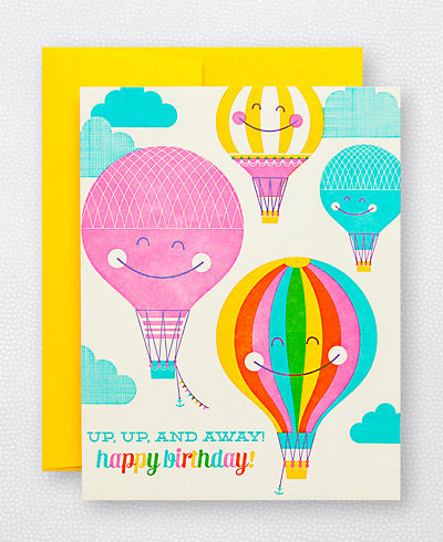Sweet birthday cards from hello lucky paper crave hot air balloon birthday card hello lucky bookmarktalkfo Choice Image