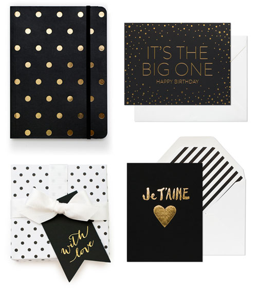 Black + Gold Paper Goods | Sugar Paper