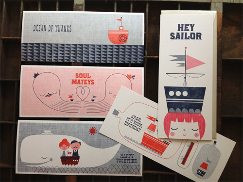 Nautical Illustrated Cards | Suzy Ultman + Igloo Letterpress