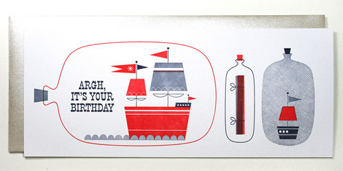 It's Your Birthday Nautical Letterpress Card | Suzy Ultman + Igloo Letterpress