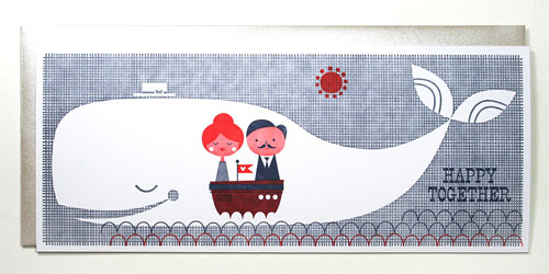 Happy Together Nautical Letterpress Card | Suzy Ultman + Igloo Letterpress