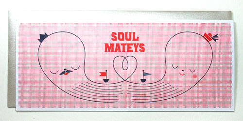 Soul Mateys Nautical Letterpress Card | Suzy Ultman + Igloo Letterpress