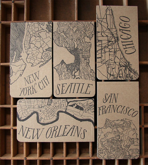 City Map Letterpress Notepads | Blackbird Letterpress