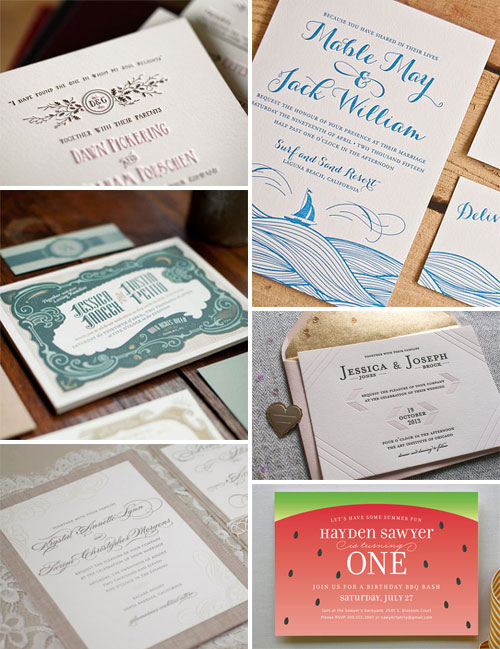 Modern Wedding & Party Invites