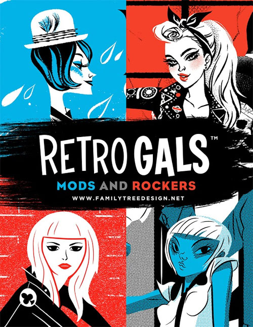 Retro Gals Art Prints