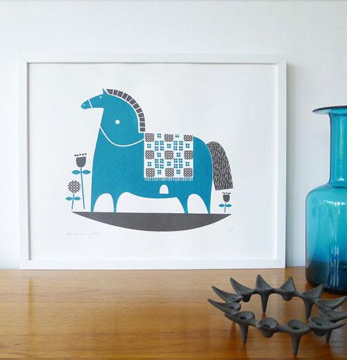 Rocking Horse Screenprint | Roddy & Ginger
