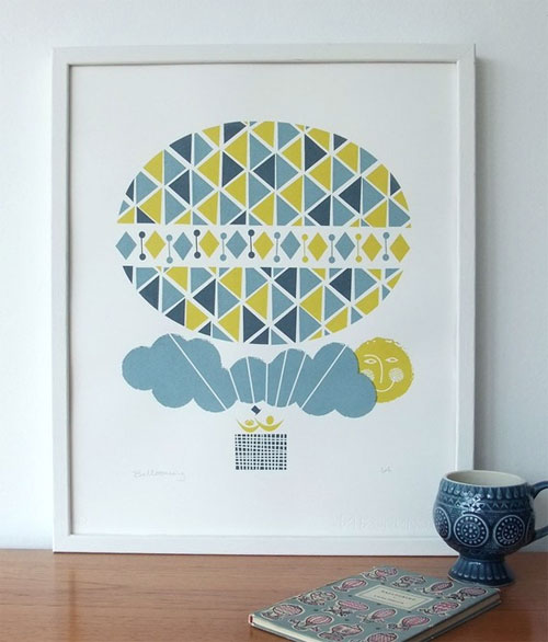 Ballooning Screenprint | Roddy & Ginger