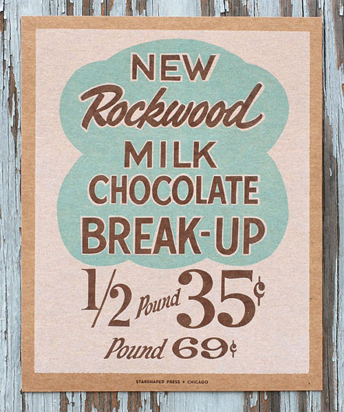 Milk Chocolate Break Up Letterpress Print | Starshaped Press