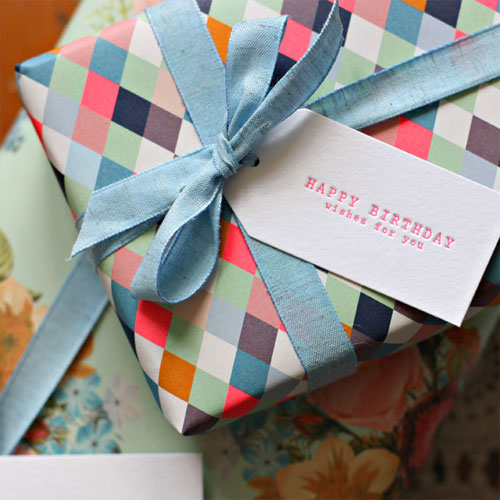 Modern Gift Wrap + Gift Tags | Bespoke Press