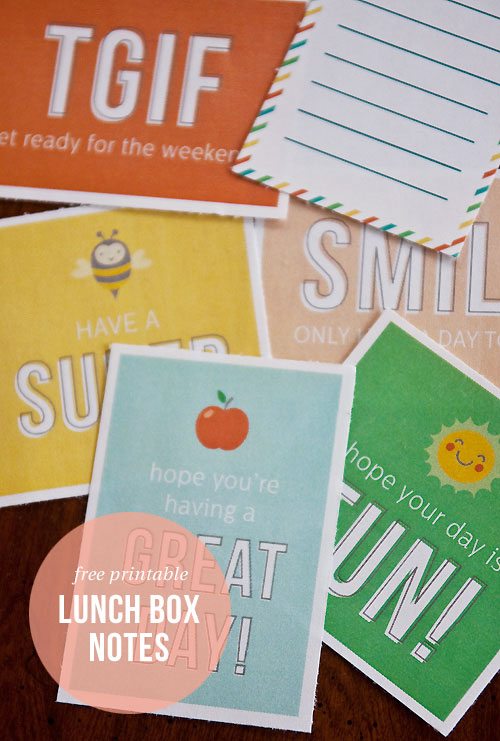 Free Printable Lunch Box Notes | Paper Crave for Livinglocurto.com