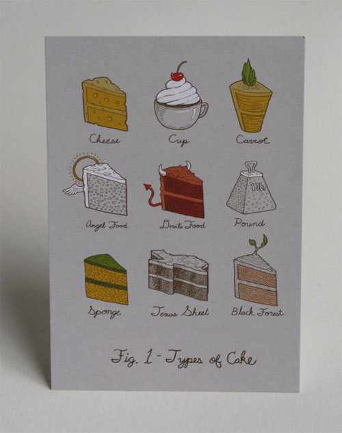 Types of Cake Postcard | Jillian Nickell