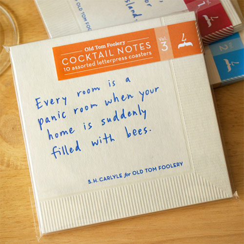 Letterpress Cocktail Notes, Vol. 3 | Old Tom Foolery