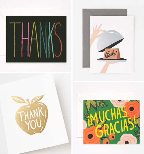 Hand Lettered & Foil Stamped Thank You Cards | Rifle Paper Co.
