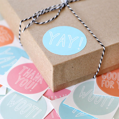 Cute Packaging Stickers | Julie Ann Art