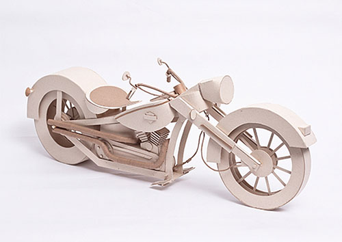 Cardboard Harley Davidson Sculpture | Anderson Diego Lopes